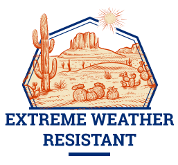 extreme weather resistance badge