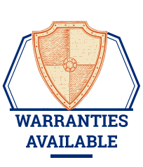 warranties available badge